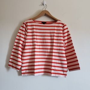J Crew Structured Stripe Tee